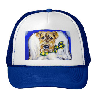 Airedale Terrier Angel Cap