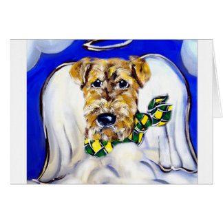 Airedale Terrier Angel Card