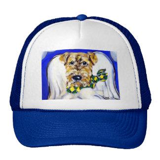 Airedale Terrier Angel Trucker Hat