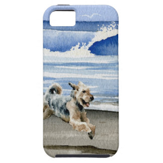 Airedale Terrier At The Beach Tough iPhone 5 Case
