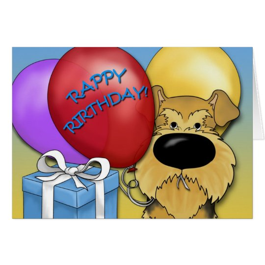 Airedale Terrier Birthday Card