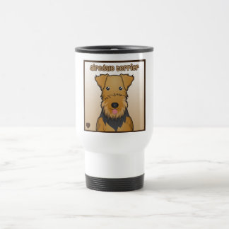 Airedale Terrier Cartoon Stainless Steel Travel Mug