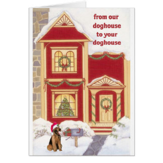Airedale terrier Christmas Card