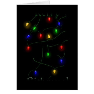 Airedale Terrier Christmas Lights Card