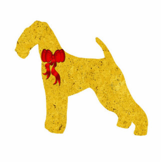 Airedale Terrier Christmas Ornament Photo Sculpture Decoration