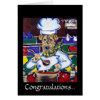 Airedale Terrier, Congratulations Card