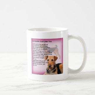 Airedale Terrier Design -  Auntie poem Coffee Mug