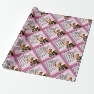 Airedale Terrier Design -  Auntie poem Wrapping Paper