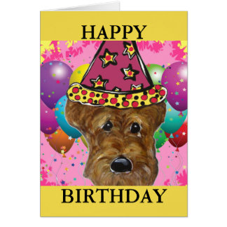 AIREDALE TERRIER DOG CARD