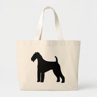 Airedale Terrier Dog Jumbo Tote Bag