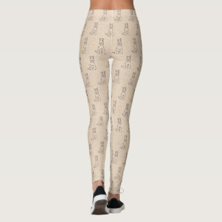 Airedale Terrier Dogs on Crinkled Paper Texture Leggings