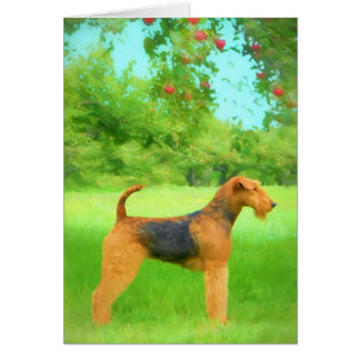 Airedale Terrier Greeting Card