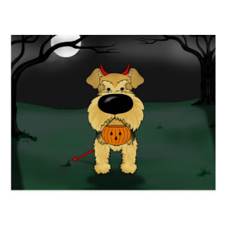 Airedale Terrier Halloween Postcard