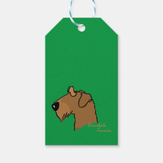 Airedale Terrier head silhouette Gift Tags