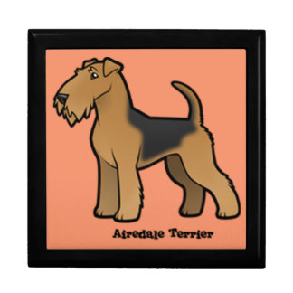airedale terrier large square gift box
