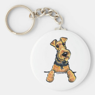 Airedale Terrier Line Art Keychains