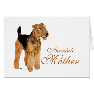 Airedale Terrier Mothers Day Card
