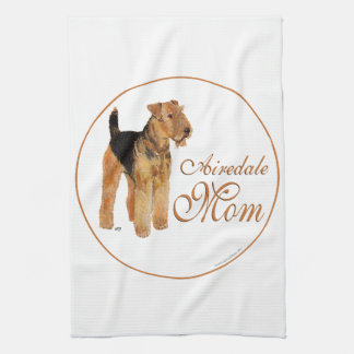 Airedale Terrier Mothers Day Tea Towel