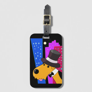 Airedale Terrier on the Town Luggage Tag