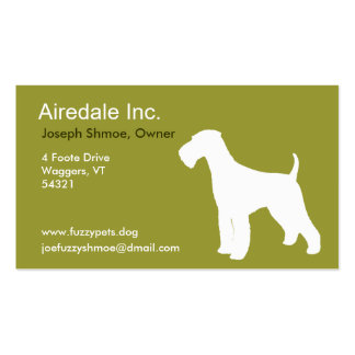 Airedale Terrier Pack Of Standard Business Cards