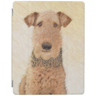 Airedale Terrier Painting - Cute Original Dog Art iPad Cover