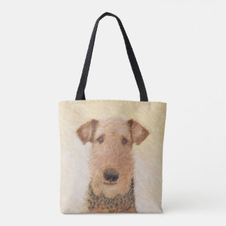 Airedale Terrier Painting - Cute Original Dog Art Tote Bag