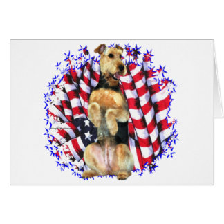 Airedale Terrier Patriot Card