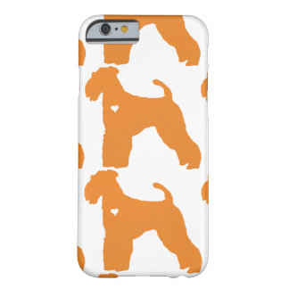 Airedale Terrier pop dog art heart silhouette Barely There iPhone 6 Case