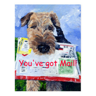 Airedale Terrier Postcard! Postcard