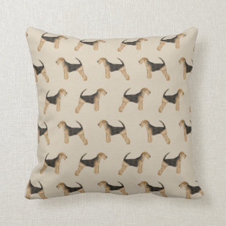 Airedale Terrier print pillow