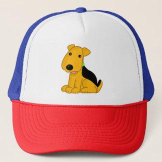 Airedale Terrier Puppy Cartoon Trucker Hat