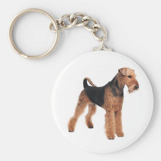 Airedale Terrier Puppy Dog Budget Keychain