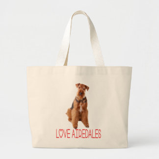 Airedale Terrier Puppy Dog Canvas Beach Totebag Large Tote Bag