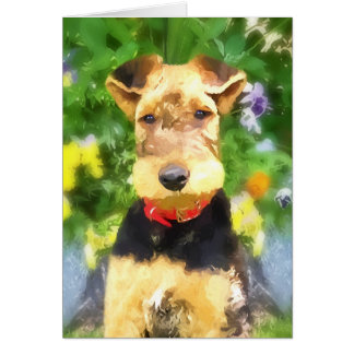 Airedale Terrier Puppy Greeting Card