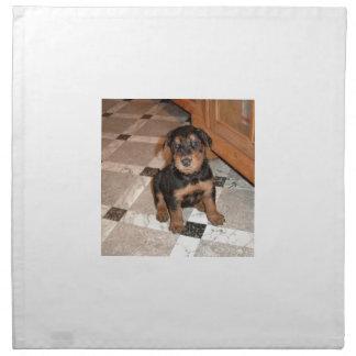 Airedale Terrier Puppy Napkin