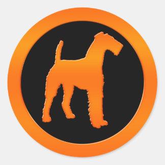 Airedale Terrier Round Sticker