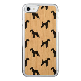 Airedale Terrier Silhouettes Pattern Carved iPhone 8/7 Case