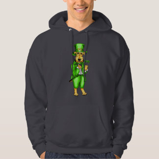 Airedale Terrier St. Patrick's Day Leprechaun Hoodie