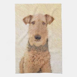 Airedale Terrier Tea Towel