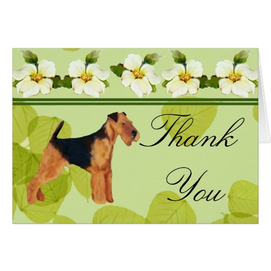 Airedale Terrier Thank You Card