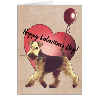 Airedale Terrier Valentine's Day Card