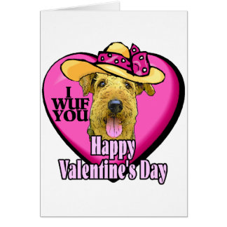 Airedale Terrier Valentines Gifts Card