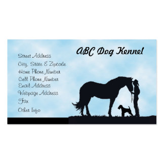 Airedale Terrier Western Silhouette Pack Of Standard Business Cards