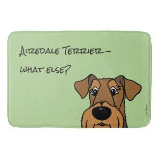 Airedale Terrier what else? Bath Mat