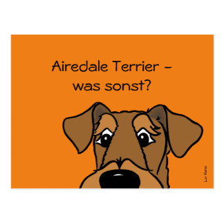 Airedale Terrier - which otherwise? Postcard