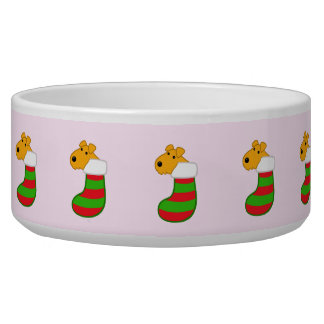 Airedale Terriers in Christmas Stockings Pet Bowl