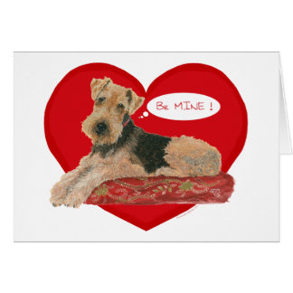 Airedale / Welsh Terrier Valentine Card