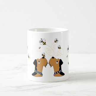 Airedales and Bees Coffee Mug