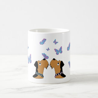 Airedales and Butterflies Coffee Mug