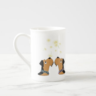 Airedales and Daisies Tea Cup